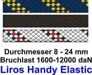 Festmacher-Leine-Liros-Handy-Elastic-marineblau-schwarz-8-24-mm-Meterware