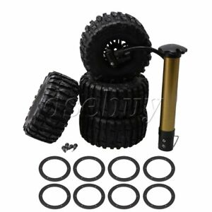 4x-2-2-034-Inflatable-Tires-amp-Wheel-Rims-for-RC-1-10-Largefoot-Rock-Crawler-Car