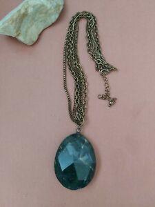 Handcrafted-big-green-natural-gemstone-necklace