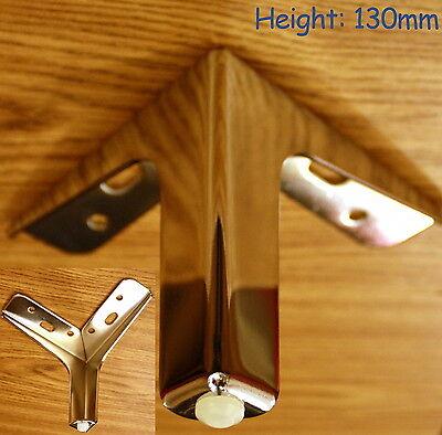 Chrome Steel Plinth Legs Feet sofa beds cupboard cabinets Kitchen furniture B109