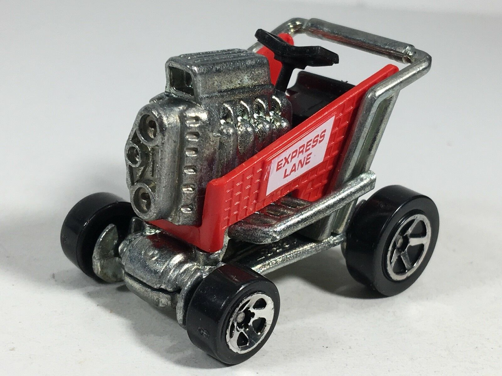 Hot Wheels 1998 1998 1998 Express Lane Shopping Cart rosso HW First Editions Series Malaysia b51e05