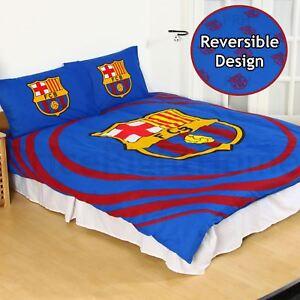 FC Barcelone Patch Lit Simple Football Club Crest Parure de lit bleu design