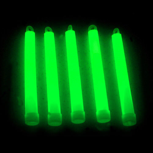 "200 6/"" Premium Thick Party Light Glow Sticks GREEN"