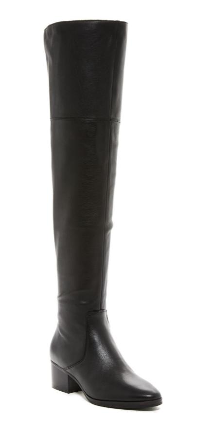 negozio online Via Spiga Ophira Donna  nero nero nero Leather Over The Knee avvio Sz 5 2886   buona reputazione