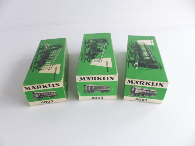 MARKLIN 3 BOITES VIDES 4002 / 4003 / 4005