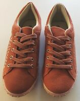 Qube Suede Coral studded lace up shoes. Brand new with box. Size 6 UK, 39 EU.