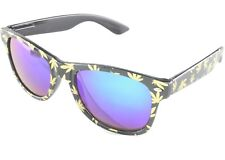 fde3842a24b2 420 Marijuana Pot Glasses Sunglasses Leaf Party Novelty Chronix Mirror Green