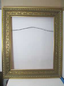 Stunning Large Gold Ornate Picture Frame Maple Leaf Pattern Approx