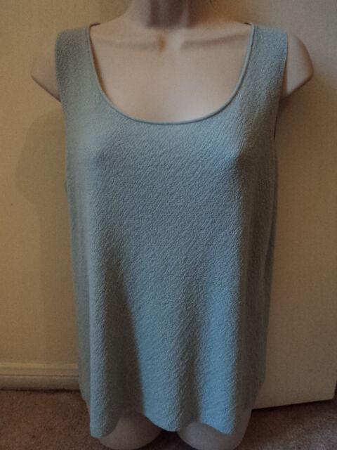 NWOT  Eileen Fisher Mint Grün Stretch Knit Crepe Tank Top Shirt Sz. M