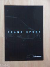 Chevrolet Trans Sport Prospekt / Depliant, Französisch / Francais / French