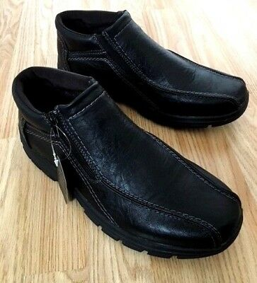 WIDE Men Fur Lined Orthopedic Diabetic Brown Touch Fasten Walk Boots Shoe Size