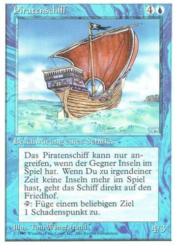 Piratenschiff Fourth Edition Rare DE NM MTG