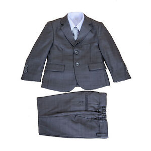 5-Piece-Boys-Grey-Suits-Boys-Wedding-Suits-Page-Boy-Party-Prom-2-12-Years