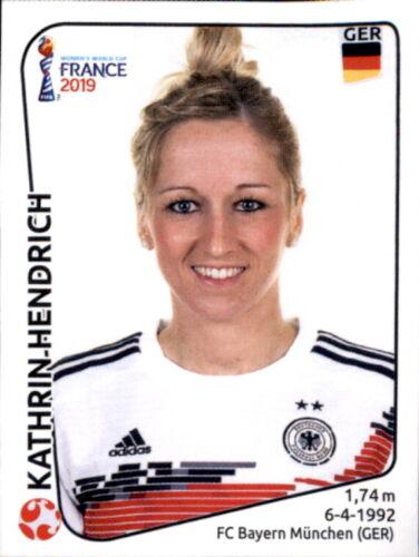 Deutschland Panini Frauen WM 2019 Sticker 105 Kathrin Hendrich