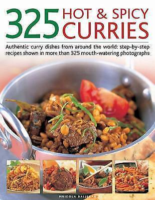 1 of 1 - 325 Hot & Spicy Curries: Authentic curry dishes from around the world:-ExLibrary