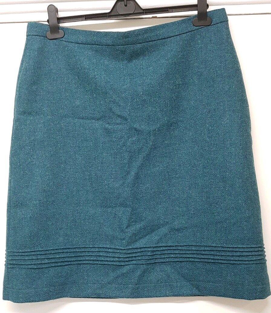Laura Ashley Moon wool skirt Green Size 16