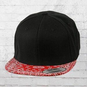 Das Bild wird geladen Yupoong-Cap-Bandana-Snapback-Kappe-schwarz-rot-Muetze- c275370ebd