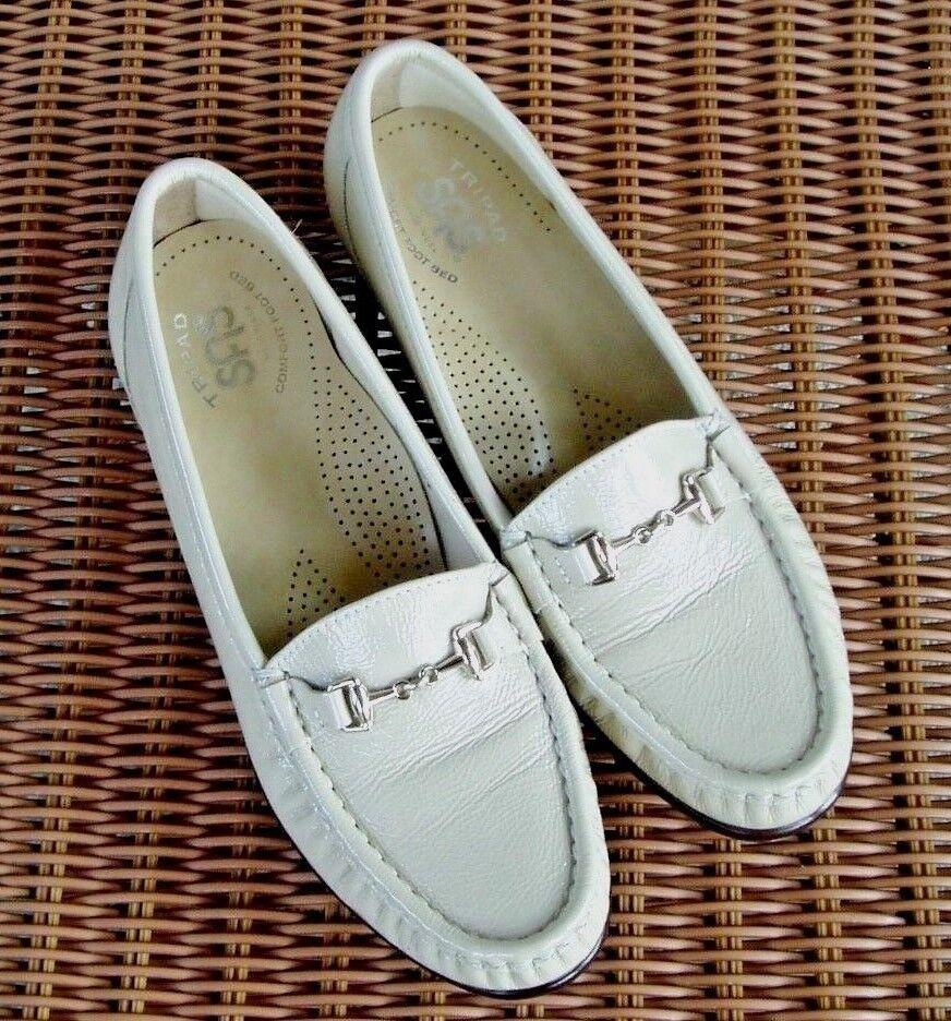 New New New SAS Womens Tripad Comfort Metro-P Bone Patent Slip On Loafer shoes 7 N   7N 467e47