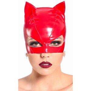Patrice-Catanzaro-Sweety-Masque-petit-chat-pour-catsuit-en-vinyle-rouge