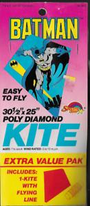 Vintage-Batman-Spectra-Star-Poly-Diamond-30-5-034-x-25-034-Kite-w-Line-NIP-1990