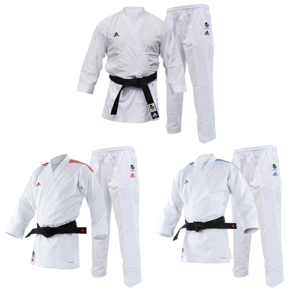 Adidas Adi Light Karate Gi WKF Approved Competition Kumite Uniform White Suit