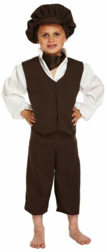 Boys Oliver Twist Victorian Urchin Peasant Book Day Fancy Dress Costume Outfit