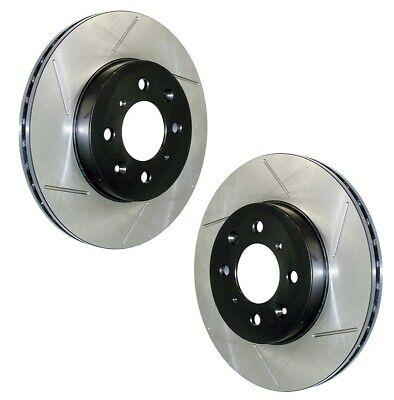 For Chrysler Dodge Set Rear Left /& Right Drilled Slotted Brake Rotors StopTech