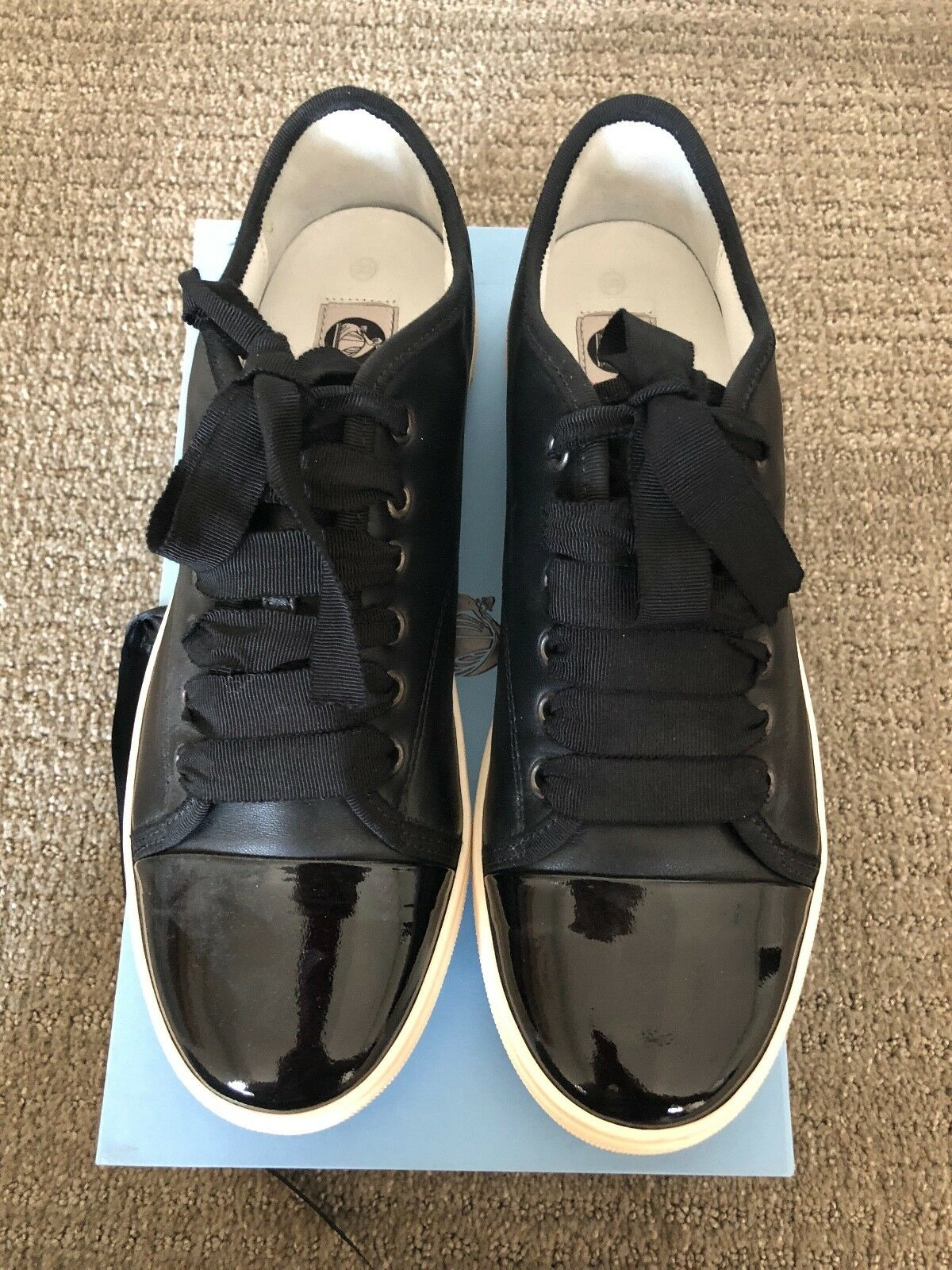 LANVIN Damenschuhe LEATHER SNEAKERS SNEAKERS LEATHER , BLACK, SIZE 9EU d03fc3