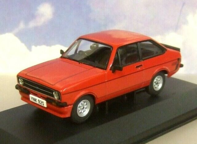 CORGI VANGUARDS 1/43 1978 FORD ESCORT MKII MK2 RS MEXICO SIGNAL RED VA12615