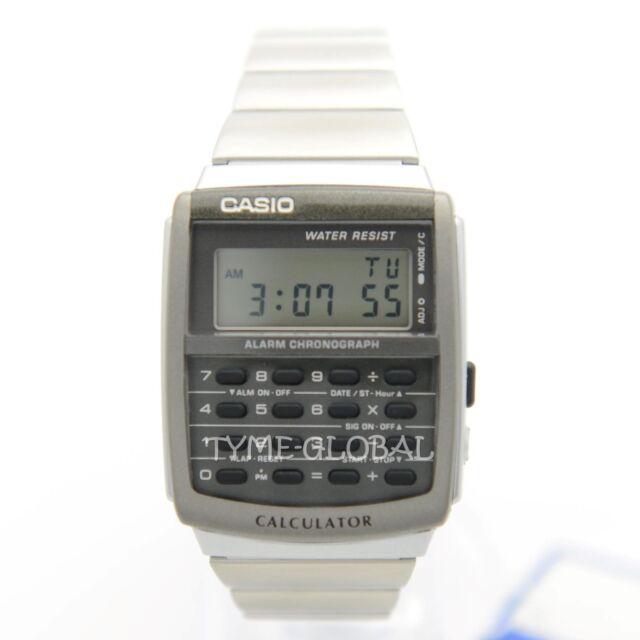 Casio CA-506-1D Men Vintage Alarm Stopwatch  Stainless Steel Watch CA-506-1DF