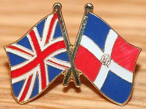 Image Is Loading UK Amp DOMINICAN REPUBLIC FRIENDSHIP Flag Metal Lapel