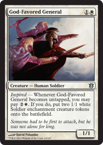 x4 God-Favored General MTG Born of the Gods U M//NM English