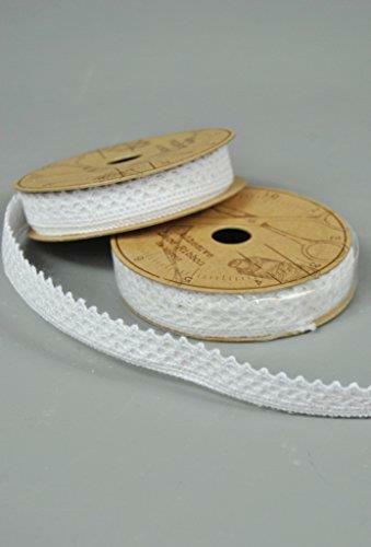 Cotton Lace Adhesive Ribbon 2 x 2metre rolls of White Craft Lace