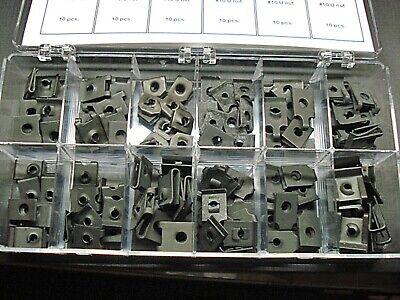 60 pcs Ford Mercury bolt in moulding trim clips /& nut assortment 3 sizes