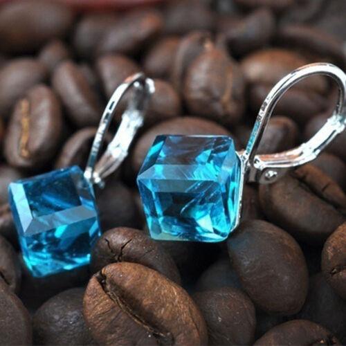 High Quality Beads Metting Cude Magic Crystal Stud Earrings Cube Shape Earring