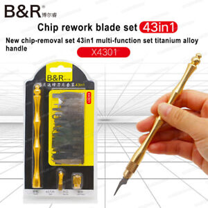 Details about IC chip repair thin blade tool CPU metal remover graver for  IPhone