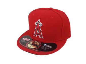 New Era Fitted Caps 5950 Hats MLB LA Angels of Anaheim 6 7 8  3e9b2854c6a