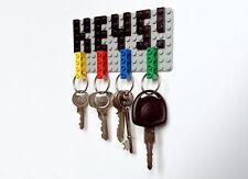 Lego Key Holder & Key Rings Set