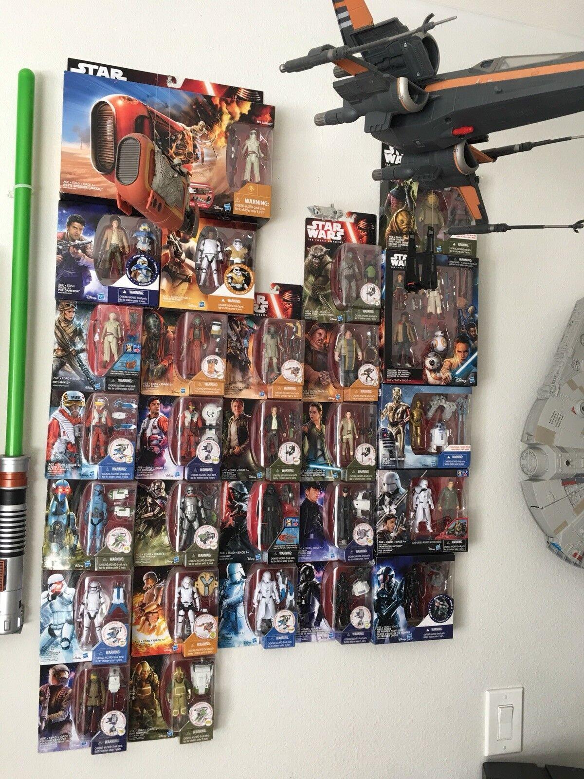 Estrella Wars Paquete De 27 Figuras de Acción Juguetes  escala 3.75 y vehículos