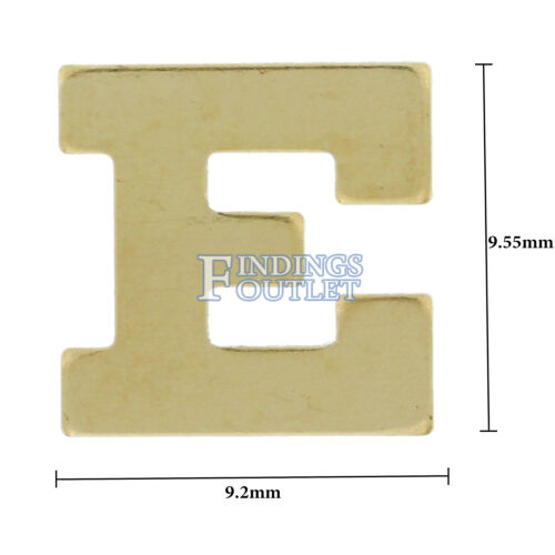 14k Yellow Gold Block Initial All Letters /& Sizes Nameplate Personalized Jewelry