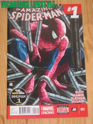 The Amazing Spider-Man #1 2014 Marvel 2nd Print Gary Choo Silk cameo NM