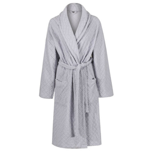 Marks /& Spencer Womens Jacquard Embossed New M/&S Fleece Dressing Gown Free P/&P