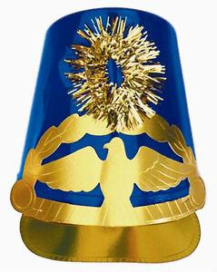 Image Is Loading Blue Plastic Drum Major Hat