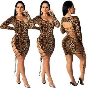 US-Women-Sexy-Long-Sleeve-Bandage-Bodycon-Evening-Party-Cocktail-Club-Mini-Dress