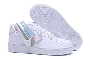 Nike Women S Air Force 1 100 Swoosh Pack Removable White Size 6 5