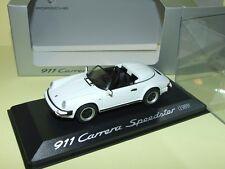 PORSCHE 911 CARRERA SPEEDSTER Blanc 1989 MINICHAMPS 1:43