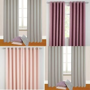 Image Is Loading Hugo Woven Blackout Ring Top Curtains Pastel Colours