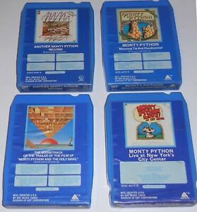 Lot of FOUR (4) MONTY PYTHON 8-Track Tapes 1972-76 Comedy HOLY GRAIL Soundtrack