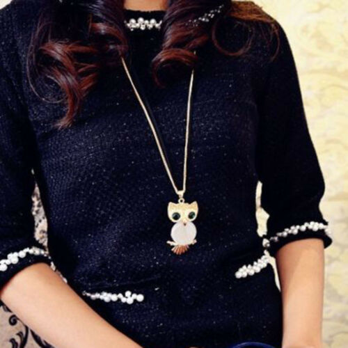 Air Balloon Owl Pumpkin Carriage Pendant Long Chain Necklace Sweet Jewelry
