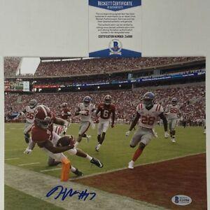 Autographed/Signed JAYLEN WADDLE Alabama Crimson Tide 8x10 College Photo BAS COA